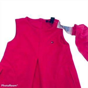2T Tommy Hilfiger Dress & Diaper Cover Pink EUC